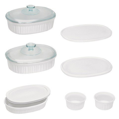 Corningware French White 10 Piece Oval Set