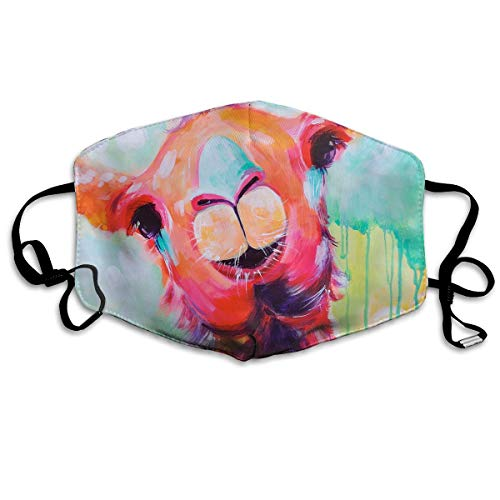 YUANSHAN Dust Mask Color Painting Llama Outdoor Mouth Mask Anti Dust Mouth Mask Man Woman -