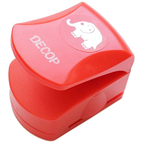 DOCOP Embossed Craft Punch 32mm (1.25inch) Elephant Deco Craft Punch