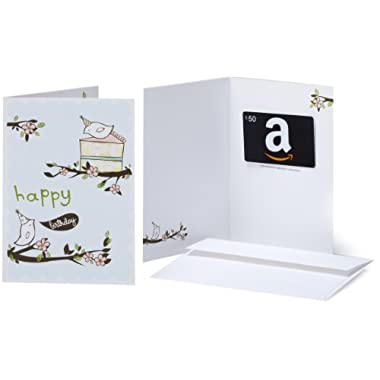 Amazon.com $50 Gift Card in a Greeting Card (Birthday Birds Design)