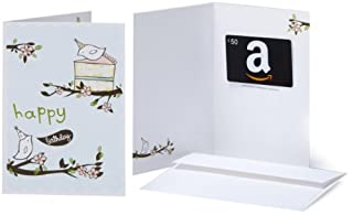 Amazon.com $50 Gift Card in a Greeting Card (Birthday Birds Design) (BT00CTP4TW) | Amazon price tracker / tracking, Amazon price history charts, Amazon price watches, Amazon price drop alerts