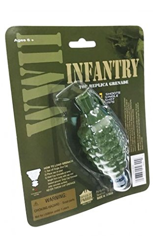 Parris TOY HAND GRENADE infantry rocket cap bomb WWII Style metal/plastic uses gun caps For Ages 5+ by Parris
