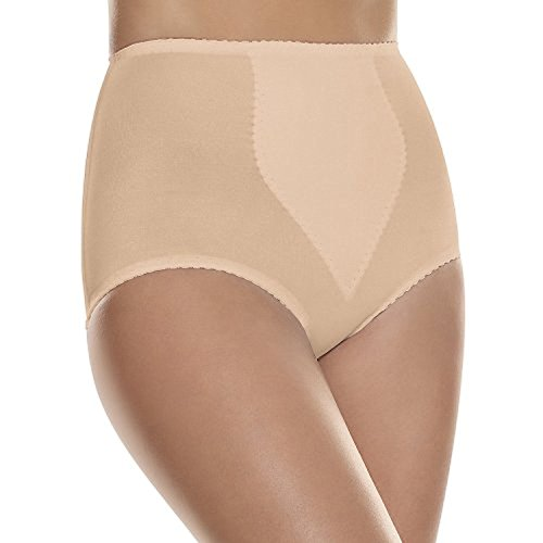 Hanes by Women's 2-Pack Light Control Tummy Panel Brief_Light Beige_3XL (Tummy Light Control Brief Cotton)