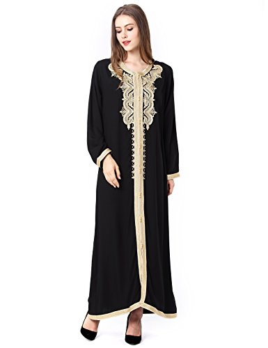 65cf2df6593 Muslim Dress Dubai Kaftan Women Long Sleeve Long Dress Abaya Islamic  Clothing Girls Arabic Caftan Jalabiya