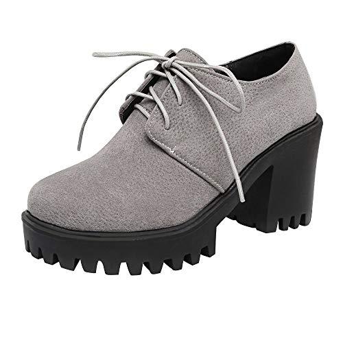 Femme Talons Dansante Chaussures Hiver Frenchenal Bottes Pour Courtes Hauts De Lacets Bottines Automne Femmes Gris Soirée À Loisirs 4pdqwPAn6x
