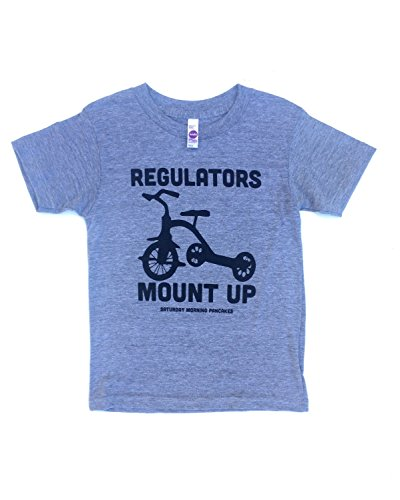 Grey Regulators Mount Up Unisex Kids Tee (2 (compares to 2T/3T)) Baby Screen Ringer Tee