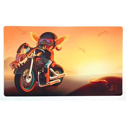 Biker Goblin Playmat Inked Gaming - Perfect for MTG Pokemon Hearthstone and YuGiOh Gaming! MTG Playmat Your Game. Your Style.