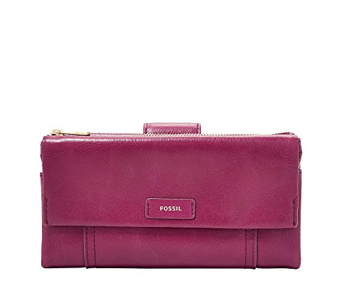 Ellis Clutch Raspberry Wine Wallet, Raspberry Wine, One Size