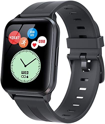 """EBAKIN Smart Watch, 1.69"""" Touch Screen Fitness Tracker for Android and iPhone, IP68 Waterproof Smartwatch with Heart Rate Blood Pressure Monitor and Sleep Monitor, Pedometer, Stopwatch Activity Tracker for Men Women"""