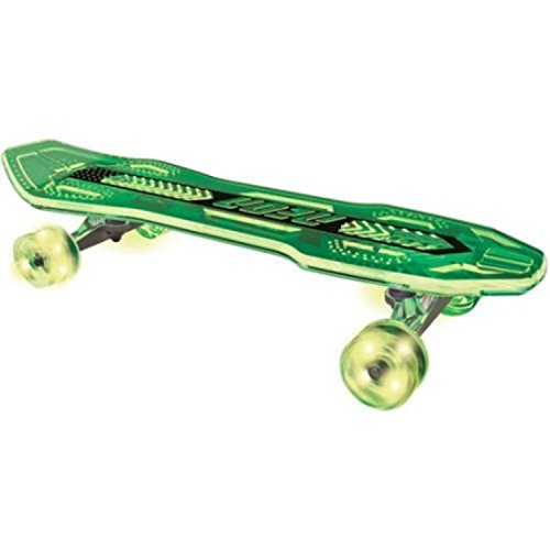 Plasma Neon Clock (Durable Long Transparent Deck Ultra-Bright LED Wheels Green Skateboard)