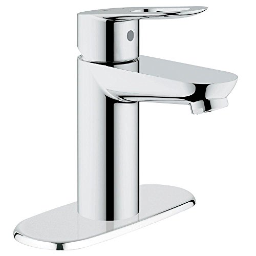 Grohe 20334000   BauLoop Basin Mixer 4-Inch 1-Handle OHM Bathroom Faucet in Starlight Chrome with Escutcheon Ohm Mixer