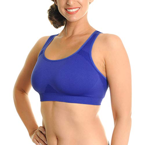 Angelina Seamless Double Layer Racerback Sports Bras (3-Pack), SE2001_LXL