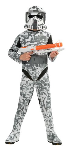 Star Wars The Clone Wars, Child's Costume And Mask, Arf Trooper Costume, Small (Ages 3 to (Star Wars Clone Troopers Costumes)