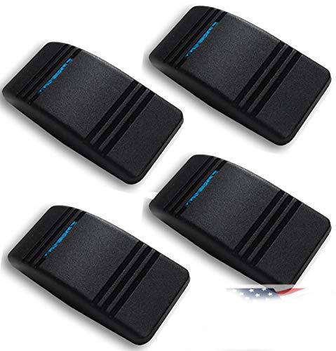 - 4X Carling Actuator/Rocker hard plastic Switch Cover Black w/Blue Slit Lens