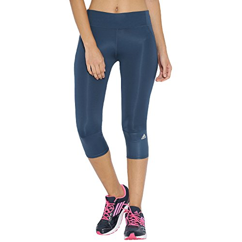 adidas Womens Supernova 3/4 Length Running Tights/Capris Size XS Blue ()
