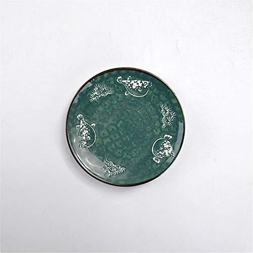 Personality creative hand-painted ceramic dish saucer small dish breakfast flat dish dessert household tableware tray 18x2.4cm