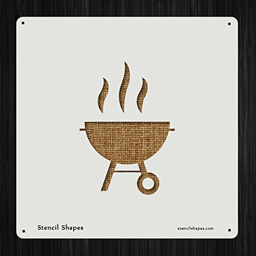 Barbecue Barbeque Bbq Charcoal Grill Cook , Style 7161 DIY Plastic Stencil Acrylic Mylar Reusable