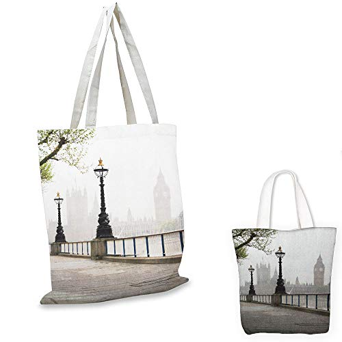 canvas laptop bag London Ancient Big Ben View from the Street Palace of Westminster Touristic Great Britain Multicolor emporium shopping bag (Family Partridge Shopping Bag)