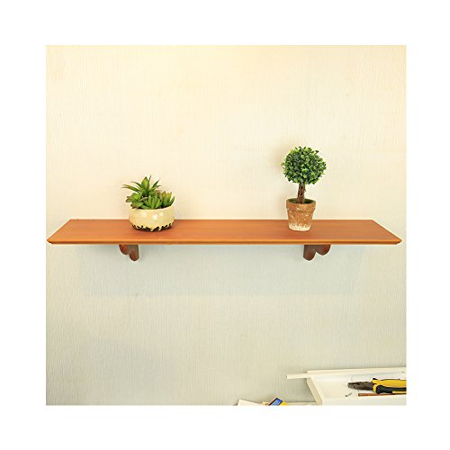 Floating Shelves, WUDENHOM Pine Wood Traditional Decorative Wall Ledge Shelf with Corbels(23.6Inch,1 Set)