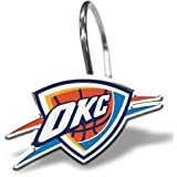 NBA Oklahoma City Thunder Shower Curtain Hooks 12 Piece Set
