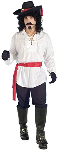 [Forum Novelties Men's Swash Buckler Costume Shirt, White, One Size] (Adult Musketeer Costumes)