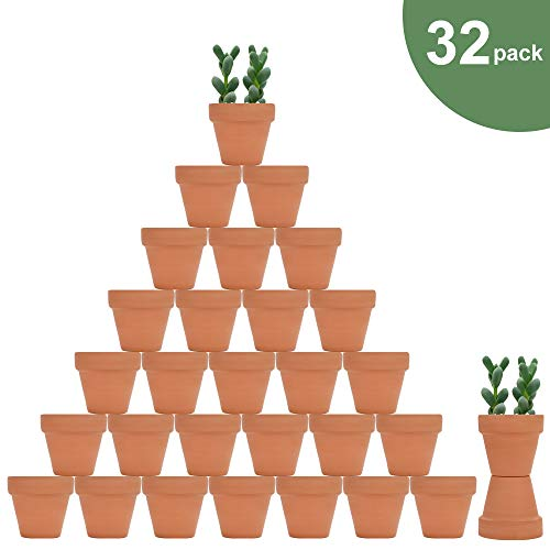 32pcs Small Mini Clay Pots, 2