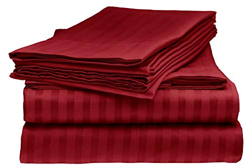 Sarah Ashley Elegante 1800 Count Egyptian Comfort Striped 4pc King Bed Sheet Set