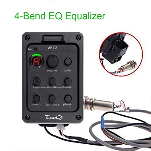 4 Band EQ Equalizer Acoustic Guitar Preamps Piezo Pickup Tuner ()