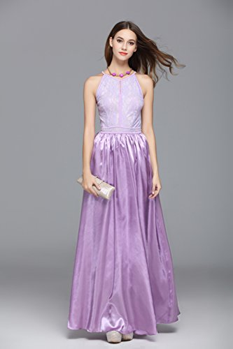 Evening Chiffon Halter Sleeveless Women's cotyledon Dress Dresses Neck Purple 1wxgqx5T