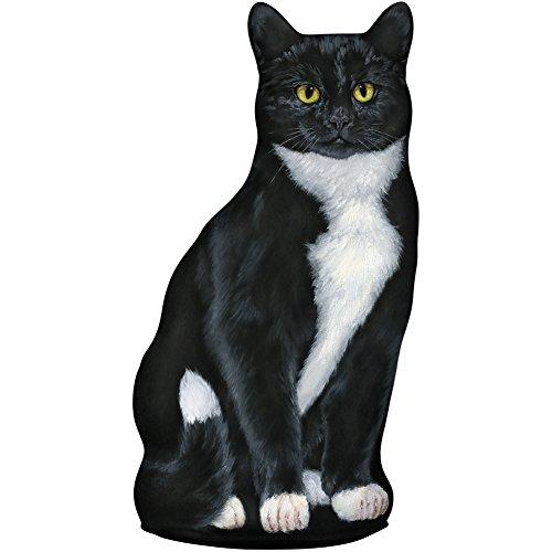 Tabby Cat Wistful Whiskers Doorstop - Tuxedo (Cat Tabby Tuxedo)