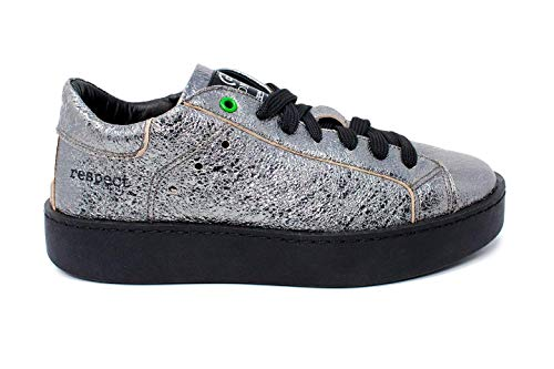 nero Sneakers In Concept Argento Pelle Scure Womsh Donna Italy Made pfzq1Z