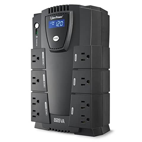 CyberPower CP825LCD Intelligent LCD UPS System, 825VA/450W, 8 Outlets, Compact (Ups Cyberpower)
