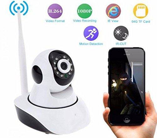 46593e8a0caed Câmera De Seguranca Ip Wireless Com Ou Sem Fio Para Android Celular E Ios  Wifi Hd ...