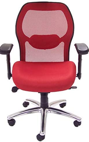 Advanced Ergonomic Mesh Back Ultra Office Chair w/Headrest-Red
