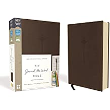 NIV, Journal the Word Bible, Leathersoft, Brown, Red Letter Edition, Comfort Print: Reflect, Take Notes, or Create Art Next to Your Favorite Verses