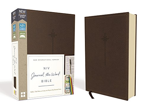 - NIV, Journal the Word Bible, Leathersoft, Brown, Red Letter Edition, Comfort Print: Reflect, Take Notes, or Create Art Next to Your Favorite Verses