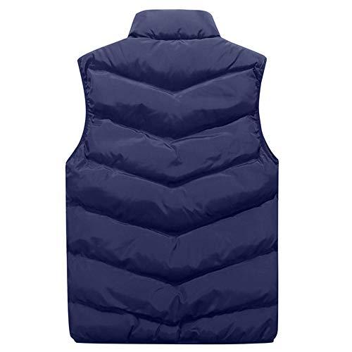 Osyard Doudoune À Homme Manteau Parka Épais Bleu Sans Gilet Taille Blousons Grande Manches Hiver Chaud Capuche Coton FdFwrn0qg