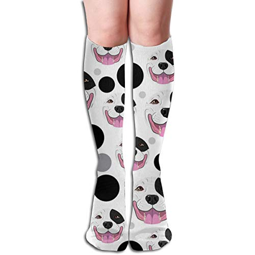 Women Tube Dresses Mid High Stockings Cosplay Socks Poodle Pattern ()