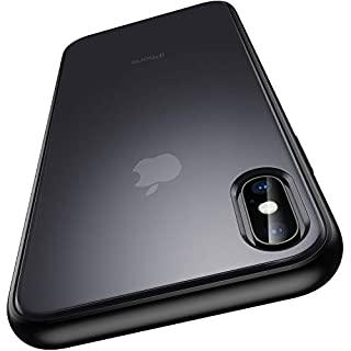 """Meifigno Magic Series iPhone X Case, iPhone Xs Case, [Military Grade Drop Tested][Satiny Touch], Translucent Matte PC with Soft Edges, Shockproof and Protective Phone Case for iPhone X/Xs 5.8"""", Black"""