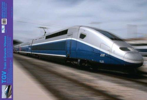 Laminated TGV High Speed Train Trains Mini Poster 60x40cm