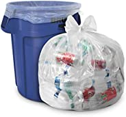 45 Gallon Clear Trash Bags - (Huge 100 Pack) - 40' x 46' - 1.5 MIL (Equivalent) - Heavy Duty Industria