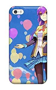 New For iphone 5/5s Case Cover Casing(skirtspurplepantyhose Air Balloons Purple Sleeves Original Characters Sky)