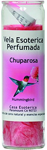 INDIO SPRITIUAL Palm Oil Candle-Hummingbird Pink Candle - Esoteric Palm Oil Wax(CHUPARROSA)