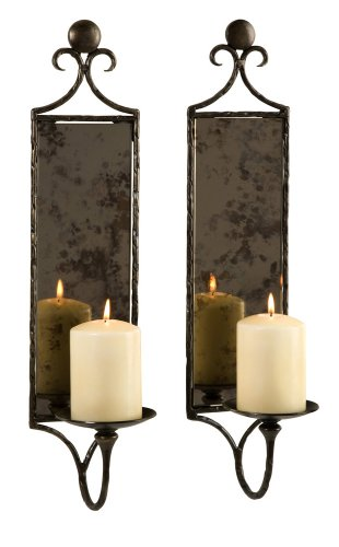IMAX 6948 2 Hammered Mirrored Sconces