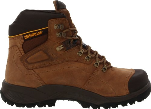 Caterpillar Men's Diagnostic Steel-Toe Waterproof Boot,Dark Beige,10.5 M US