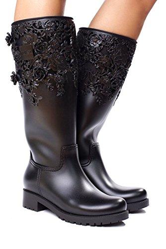 High Melissa Flower Black Flower Boot Melissa wIqSIPr