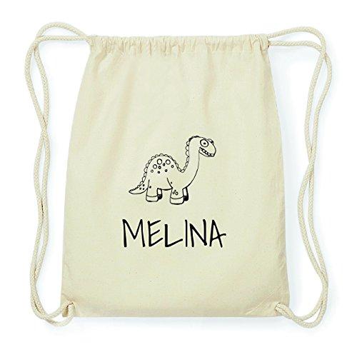 JOllipets MELINA Hipster Turnbeutel Tasche Rucksack aus Baumwolle Design: Dinosaurier Dino 7thMQN3j0
