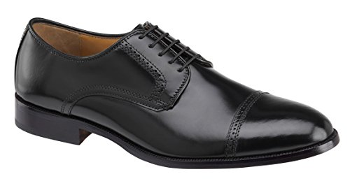 Johnston & Murphy Bradford Cap Toe Black Leather Oxford 15-1771 (10.5 D US)