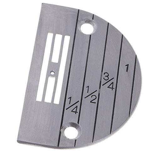 Prettyia Steel E Type Needle Plate for Industrail Single Needle/Flat Lockstitch Sewing Machines - - Lockstitch Feed Needle Single