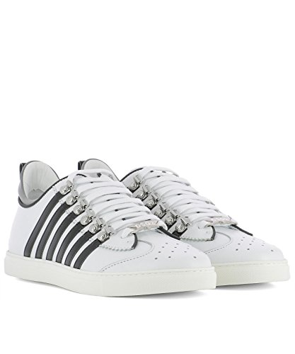Leder Herren SNM000801500452M072 Weiss DSQUARED2 Sneakers 0tf6qq1
